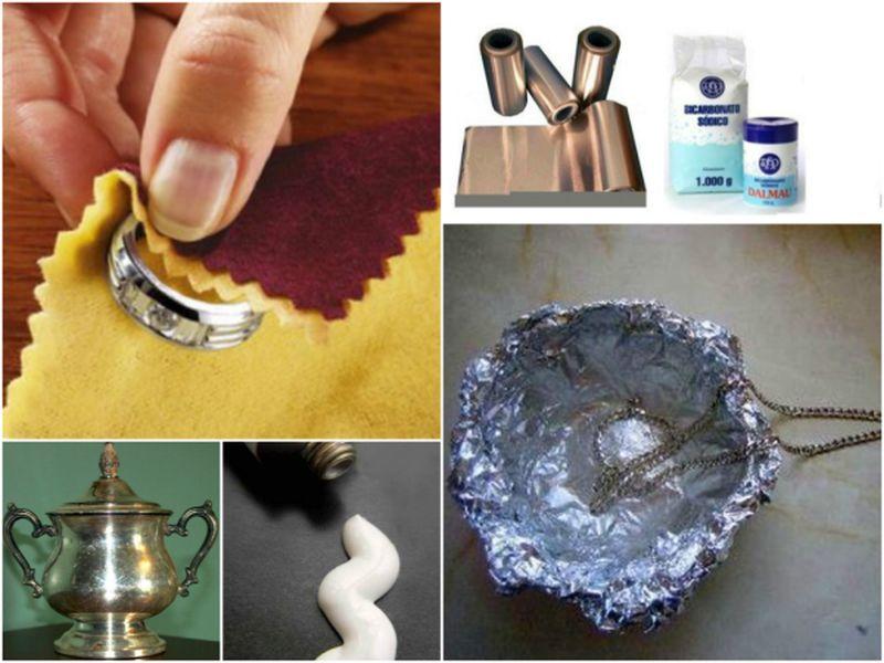 M todos caseros para limpiar objetos de plata oscurecidos - Como limpiar la plata para que brille ...
